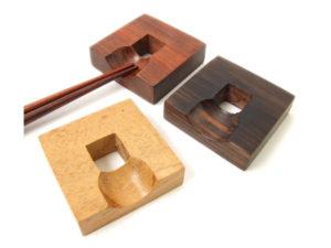 木製箸置・角削